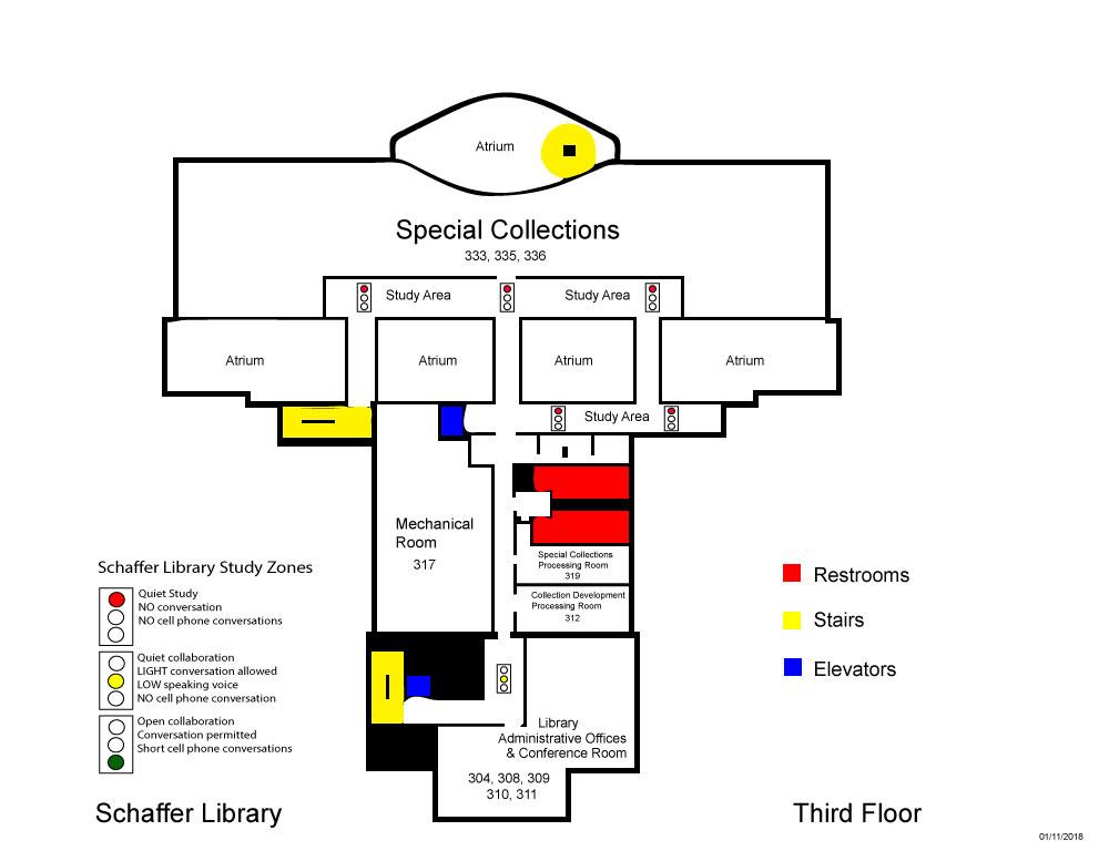 Schaffer Library third floor map