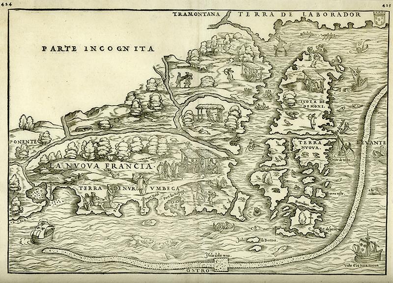 La Nuova Francia. Giovanni Battista Ramusio. Venice, 1556