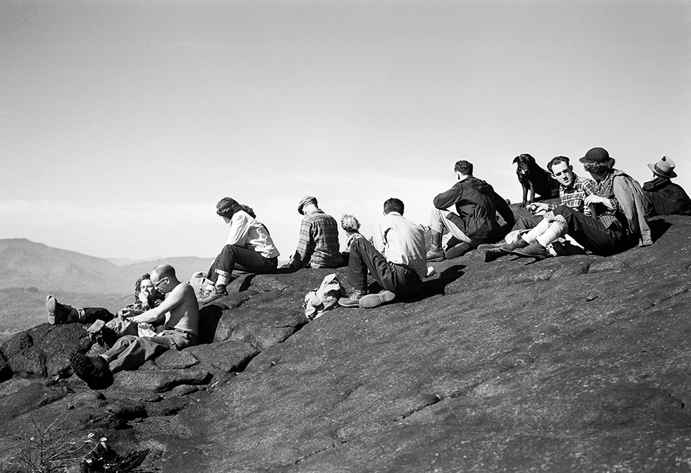 Lunch on Saddle Mt (Jay Range), 10/11/1952