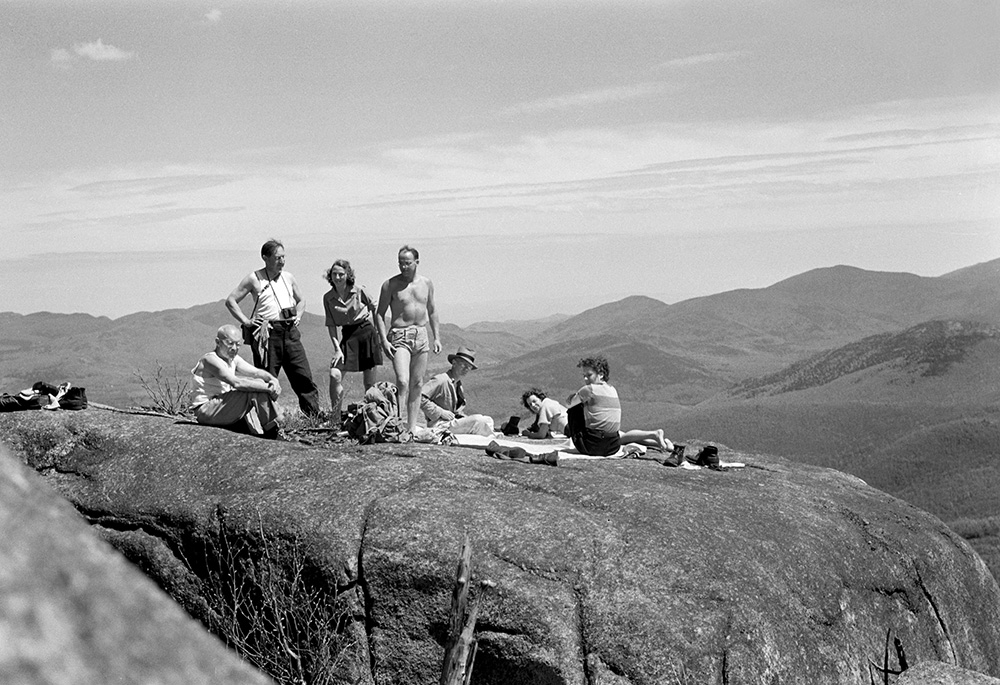 Members of the Adirondack 46ers on Mt. Pitchoff