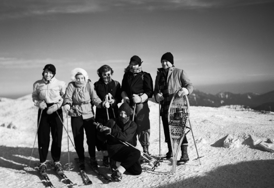On the summit of Mt. Marcy, 1949.