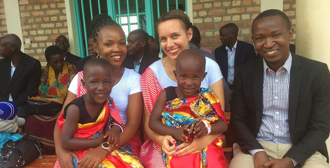 Keilah Creedon '14 works for the Education Development Center in Rwanda.