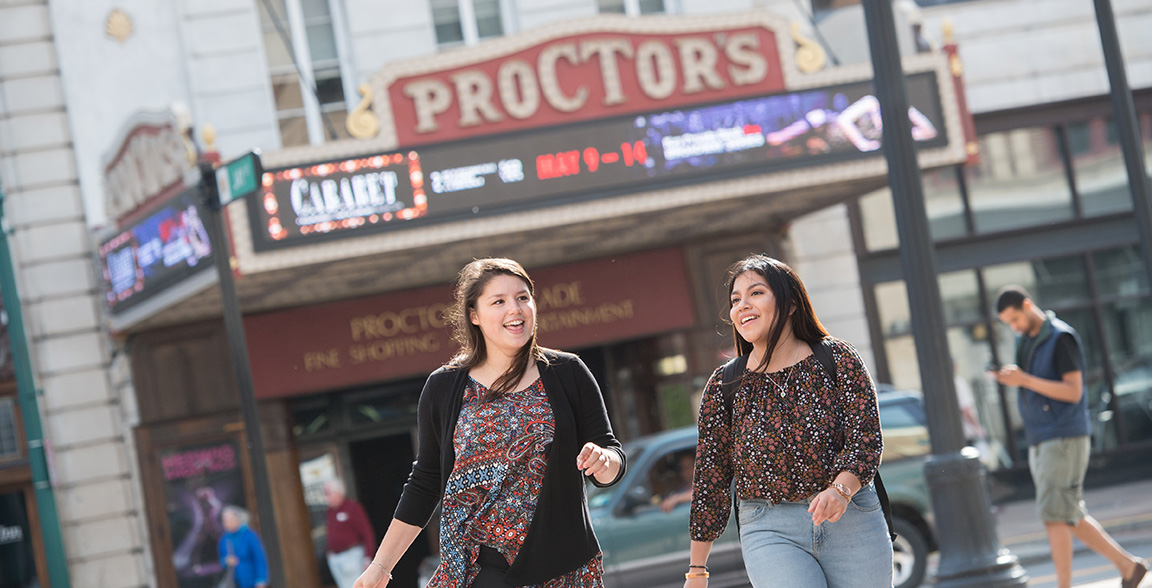 Proctor's theater is an old vaudeville theater offering Broadway shows and other performances.