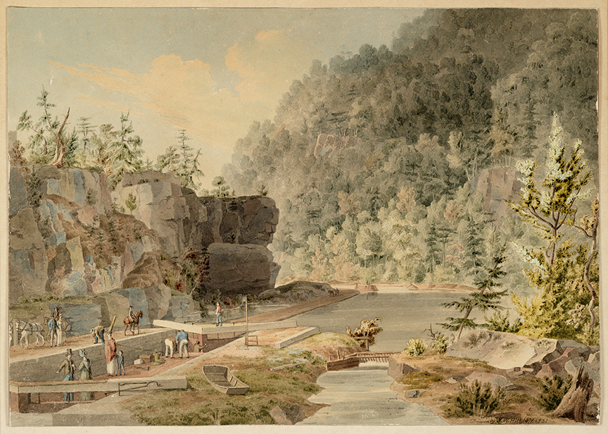 J.W. Hill, Erie Canal, 1831