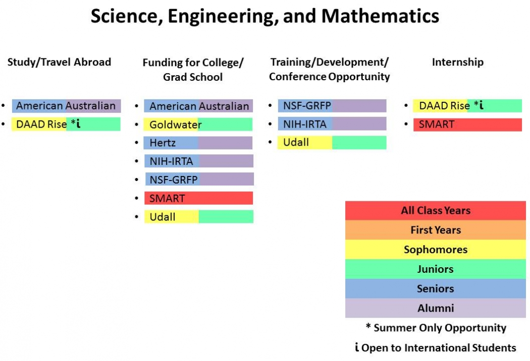 Fellowships by Science, Engineering and Mathematics Chart
