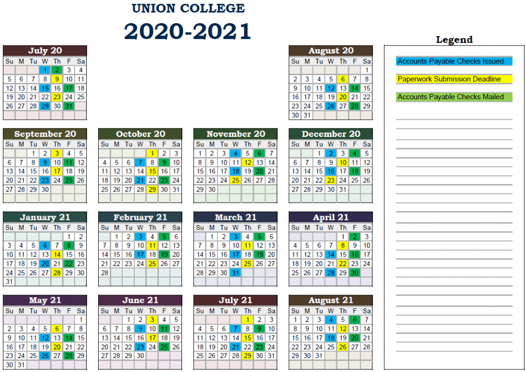 Pay Dates 2020-21