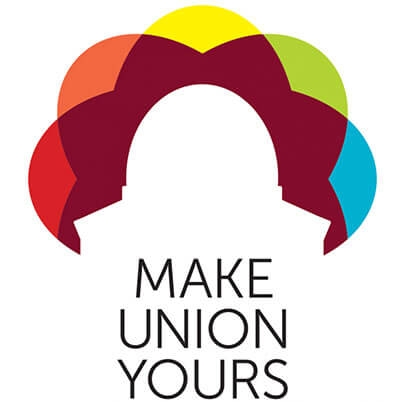 A logo the says Make Union Yours