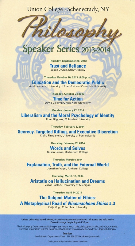 2013-2014 Speaker Series Flyer