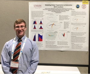 Brent Shapiro-Albert '16 presenting his winning poster at the 2016 AAS
