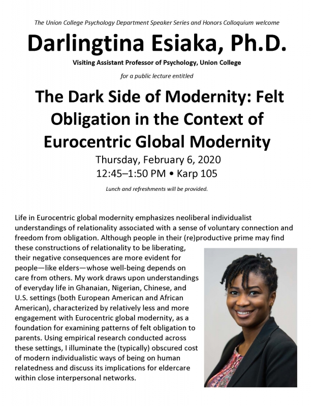 The Dark Side of Modernity: Felt Obligation in the Context of Eurocentric Global Modernity