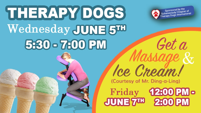 Slide Display for June 19 Therapy Dogs