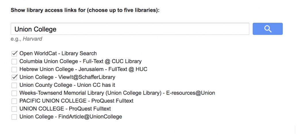 check the box that says Union College - ViewIt@SchafferLibrary