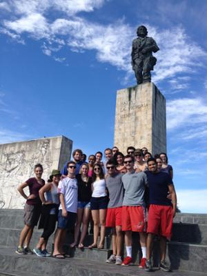 Group shot of students in Cuba