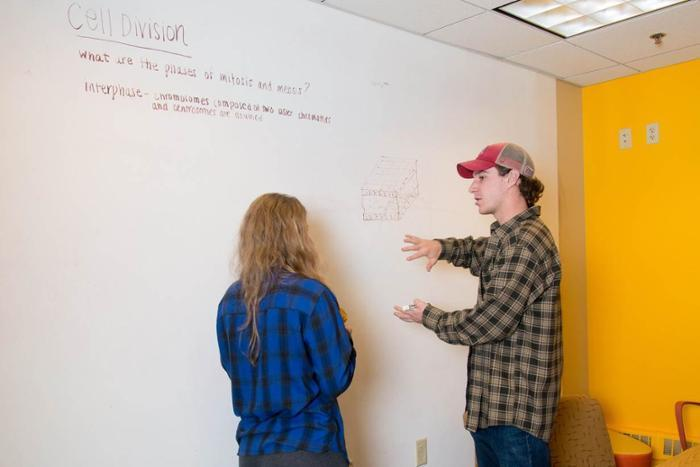 Since opening at the beginning of the academic year, the Idea Lab has attracted dozens of students whjo have collaborated on a diverse mix of projects
