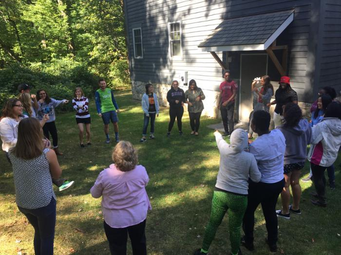 Student Leaders Orientation is for students representing more than a dozen clubs and organizations. They attend a one-day retreat at the Kelly Adirondack Center to cultivate the skills needed to effectively lead a club and to raise awareness of each club's mission.