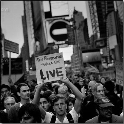 Giclee print from #Occupywallstreet Oct. 15, 2011 © Ashley Gilbertson/VII