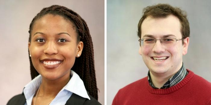 NSF Graduate Research award winners Olivia Britton and James Bogg