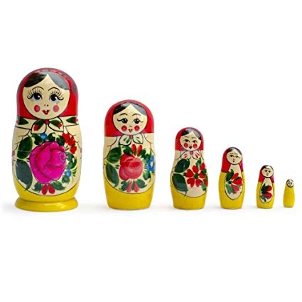 paint your own Matryoshka Nesting Dolls