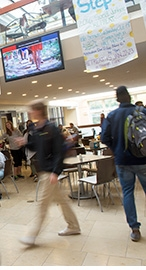 Inside Reamer campus center