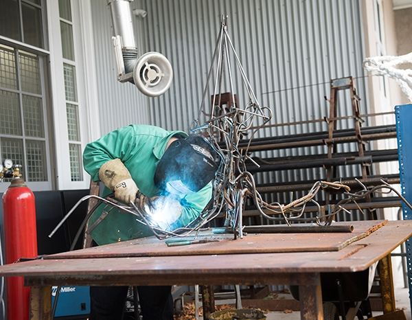 Welding at the visual arts center