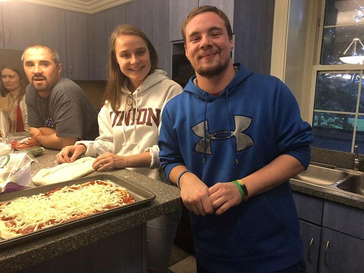 Union students prepare meals as part of the Good Eats program.