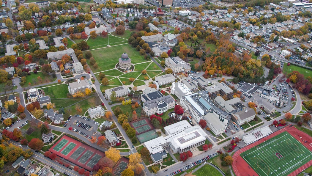 An aerial view of the Union campus