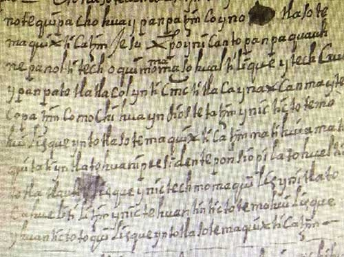 Historic manuscript of a play written in Spanish