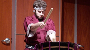 Zakuro-Daiko, the Union College Japanese drumming ensemble