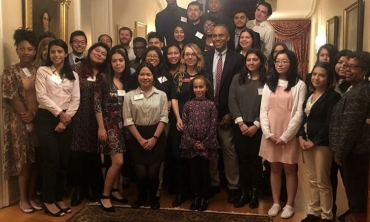 AOP Class of 2022 at President's Reception