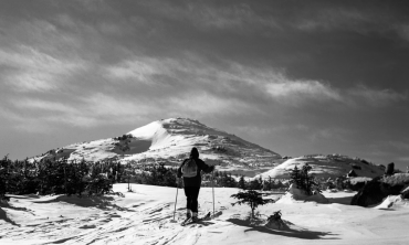 The ascent to Mt. Marcy, on February 12, 1949