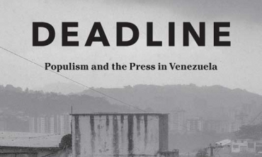 "Book cover of ""Deadline: Populism and the Press in Venezuela"""