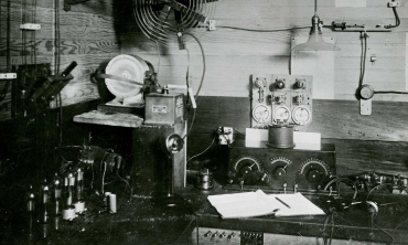 Archival photo of old radio equipment