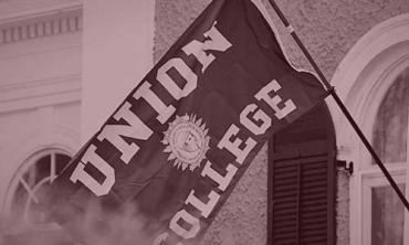A picture of a Union College flag