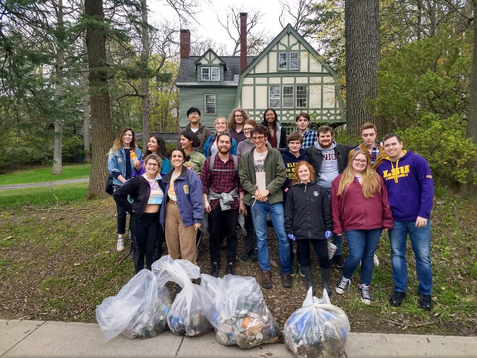 Students in Ozone House helped the College finish first among hundreds of schools as part of 2019 Recyclemania, a national competition.