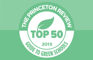 Princeton Review Green Colleges badge