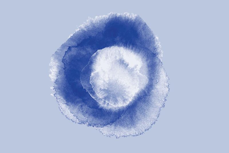 A swatch of indigo