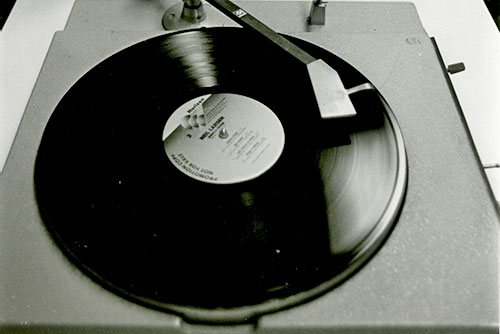 Old WRUC record player